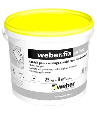 weberfix primo sceau de 25 kg weber univers brico. Black Bedroom Furniture Sets. Home Design Ideas
