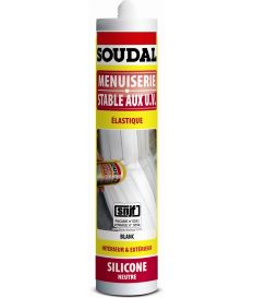 Mastic silicone menuiserie neutre SNJF blanc - Soudal