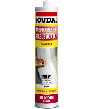 Mastic silicone menuiserie neutre SNJF ton pierre - Soudal