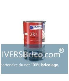Laque aliphatique 2kr + catalyser 4 litres Brillant RAL 7043 Gris Signalisation - isaval