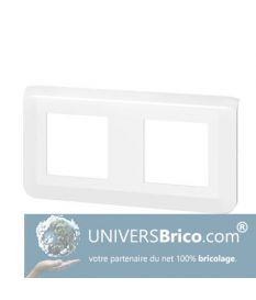 Plaque de finition horizontale Mosaic pour 2x2 modules blanc - Legrand