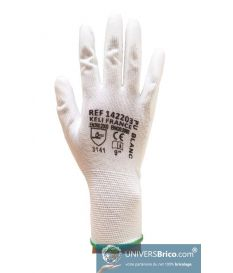 Gants de Protection en PU Blanc du 8 au 11 - Dulary